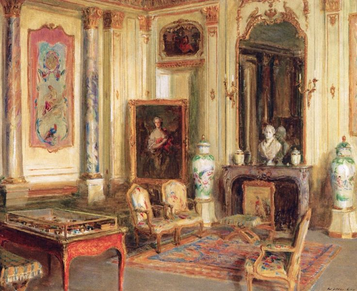 Salon in the Musée Jacauemart-André (Walter Gay - 1912)