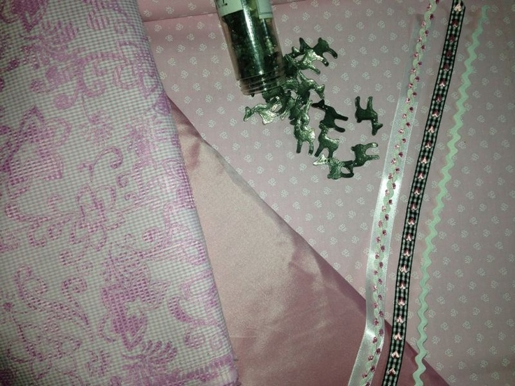 sweet pink. Baby pink. Dirndl fabric
