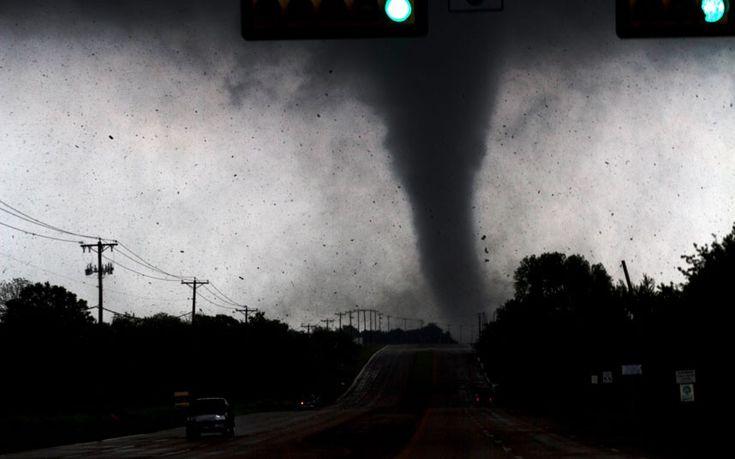 Run! A tornado touches down in Lancaster, south of Dallas, Texas