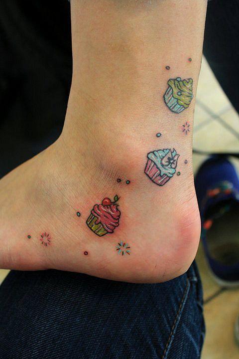50+Tatuagens+de+Cupcake+para+os+amantes+dos+pequenos+bolos+|+Tinta+na+Pele