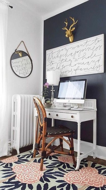 best 25 navy accent walls ideas on pinterest navy bedroom walls accent wall in bedroom and. Black Bedroom Furniture Sets. Home Design Ideas