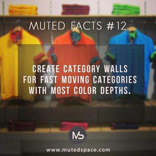Muted fact #12 Category display merchandising To sell more keep basics together…