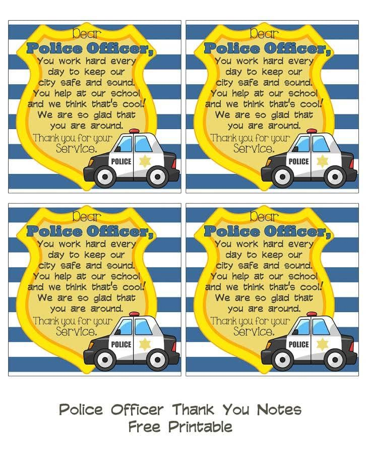 Pin On Thank A Police Officer Day Ideas