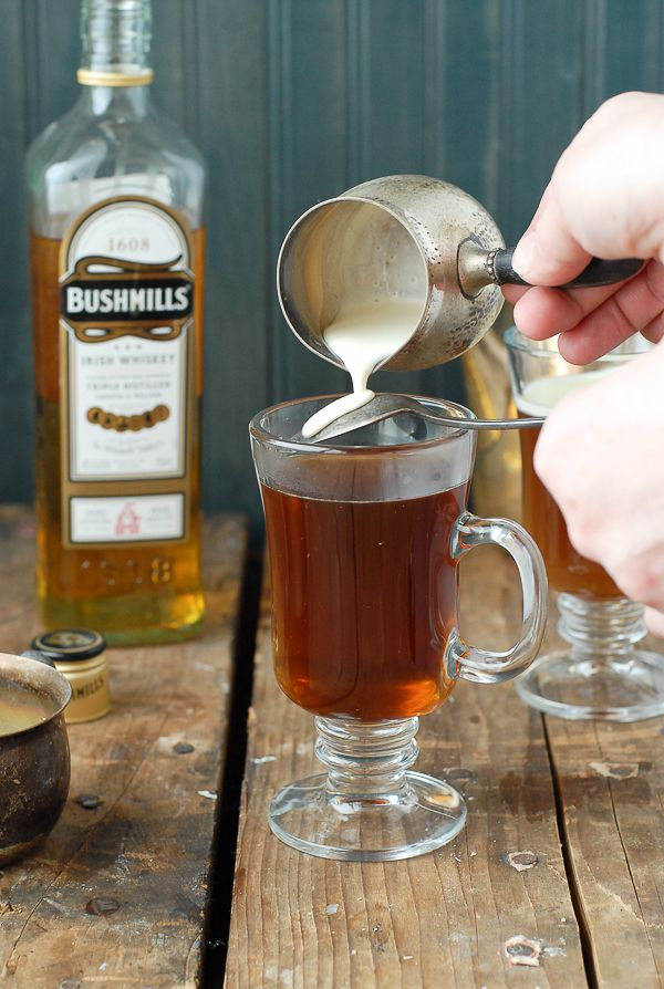 Authentic Irish Coffee recipe.  Steaming hot sweetened coffee, Irish Whiskey and a cream float. Great after a big meal or to drink Irish without the Guinness! BoulderLocavore.com
