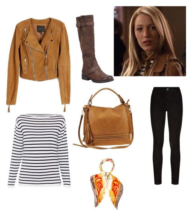 """Serena Van Der Woodsen inspired outfit"" by clarafabraauger on Polyvore featuring moda, Paige Denim, Miz Mooz, Urban Expressions y Valentino"