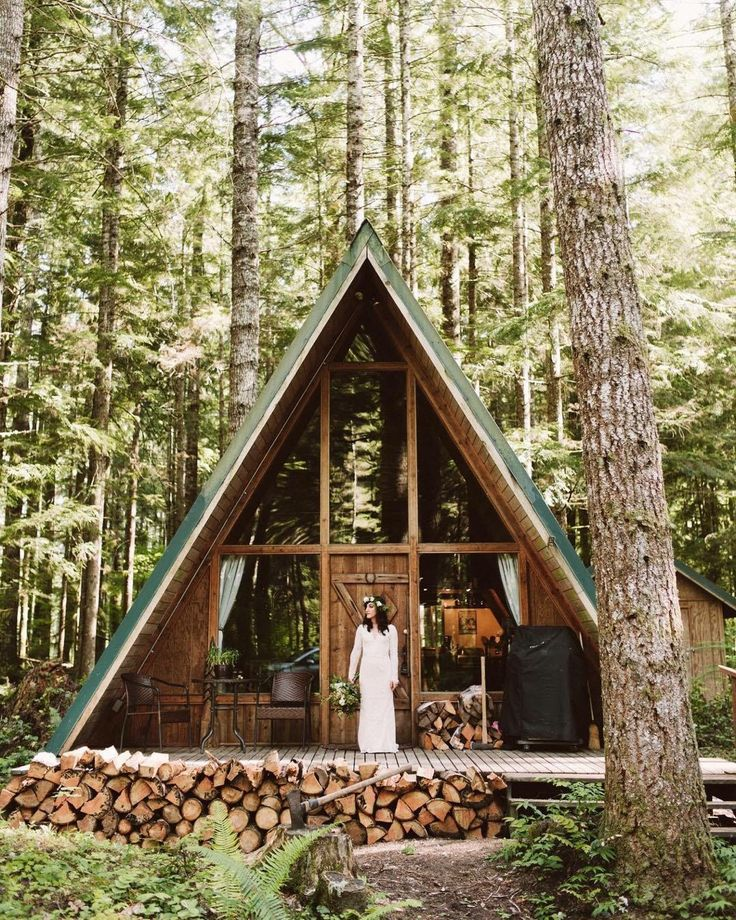 365 best a frame images on pinterest little houses for Log a frame cabins