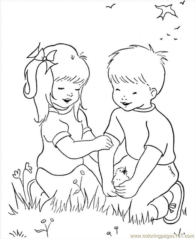 Jocuri pentru copii mari şi mici: fise de colorat cu copii