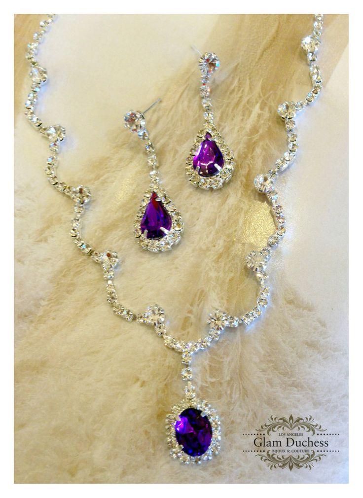25 Best Ideas About Purple Wedding Jewelry On Pinterest