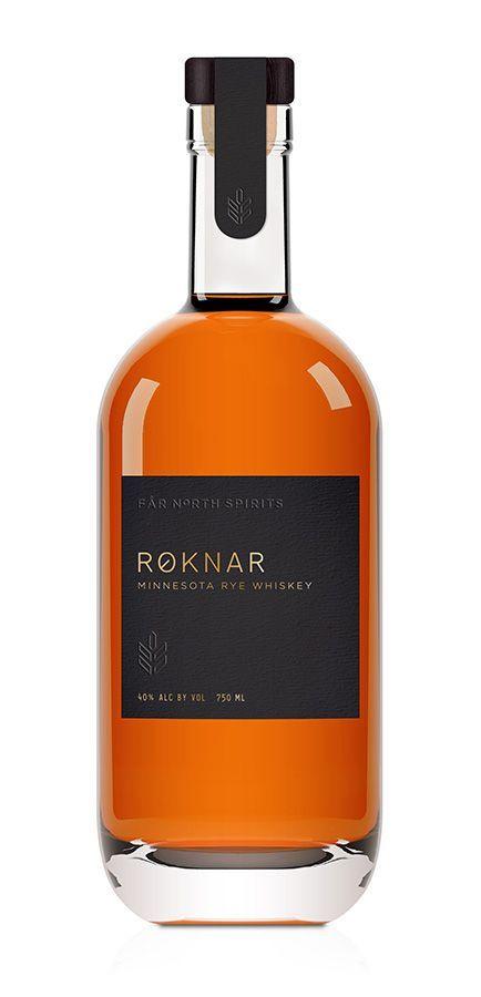 Roknar, Minnesota rye whiskey bottle - via www.murraymitchell.com