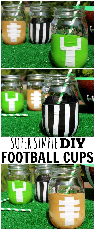 Super Easy Diy Dish Soap 3 Ingredients: Super Simple DIY Football Mason Jars -Made From BALLOONS