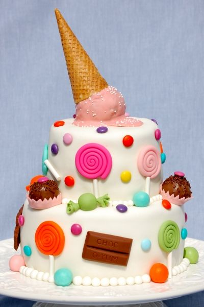 Candy Cake! By EnglishCakeLady on CakeCentral.com