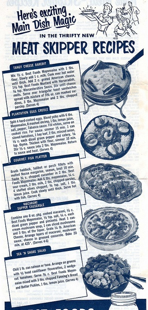 89 best wartime cookery challenge images on pinterest vintage meat skipper by vintagetten via flickr meatless meals were part of the home forumfinder Choice Image