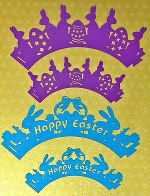 FREE DIY cut files Easter cupcake wrappers 6 styles and 2 sizes perfect for that Easter party