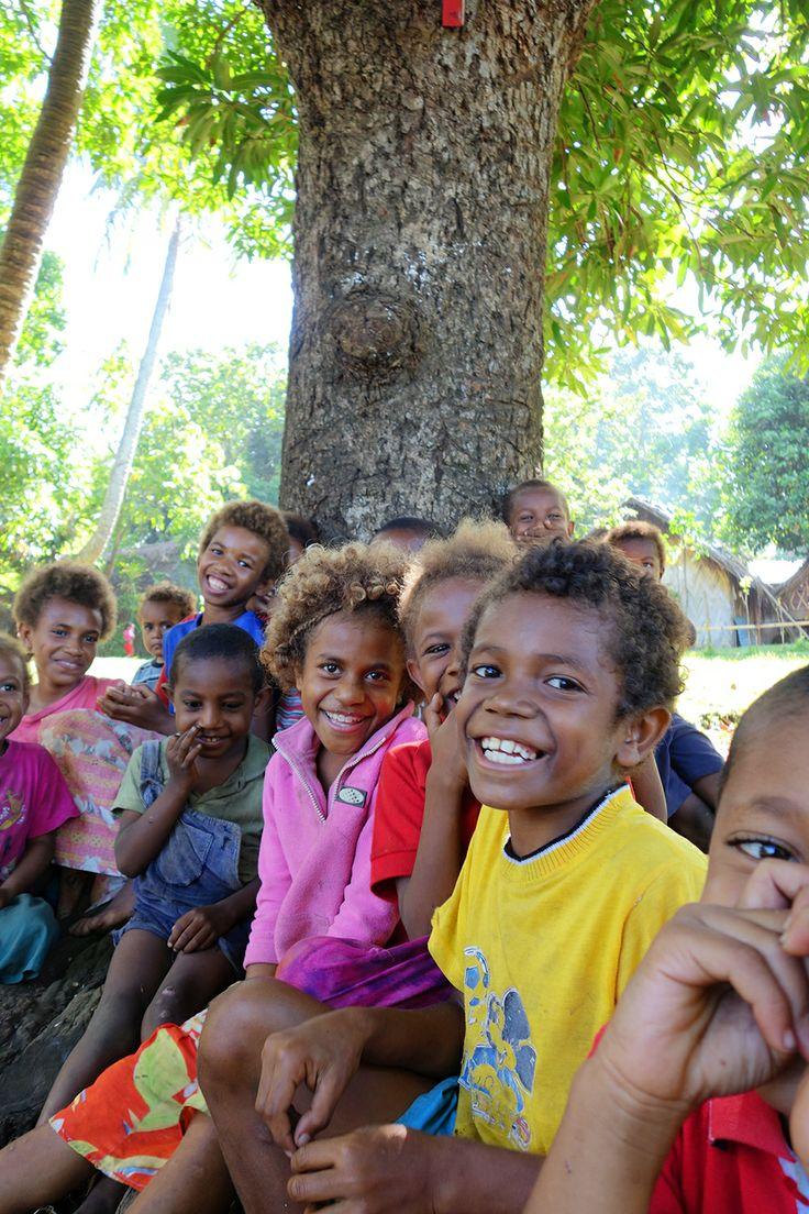 Happy children - Tafutuna village, Tanna island, Vanuatu.