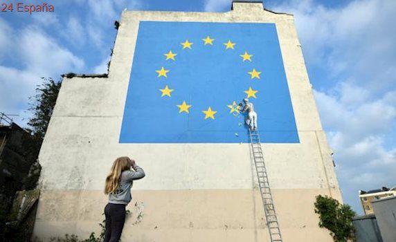El nuevo mural anti Brexit de Banksy