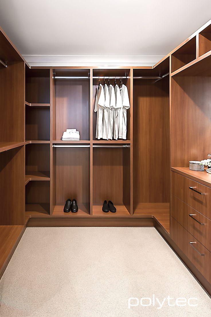 Classic style wardrobe in MELAMINE Oxley Walnut Matt