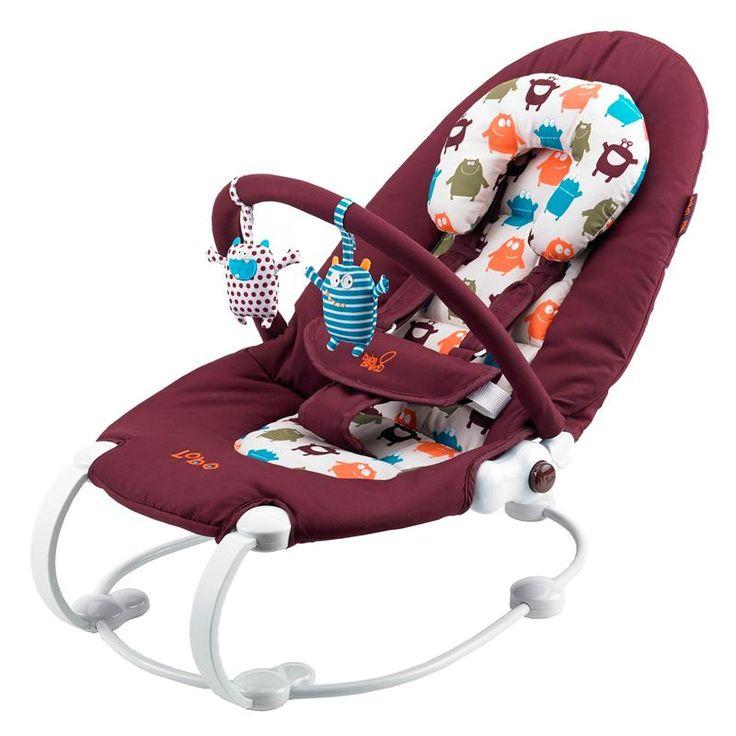Elegant och smidig babysitter som försiktigt lugnar och söver ditt barn. Kan placeras I två lägen, från att sitta upp och leka eller vid matning till att fälla ned och vila. Den fälls ned genom att enkelt trycka på sidoknapparna - väldigt praktisk för nyfödda bebisar. 5-punktssele som är säker, super bekväm och lätt att använda samt ett extra stöd för huvudet för att barnet ska kunna ligga bekvämt. Roliga, mjuka leksaker i fina färger för barnet att underhålla sig med som är fästa på bygeln…