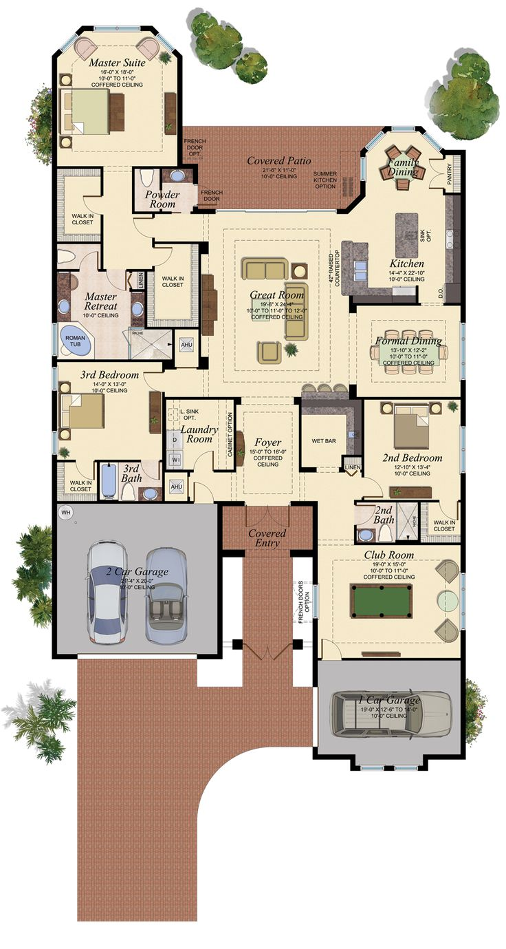 Carlyle model floor plan at the ridge at wiregrass wesley for Small home builders tampa