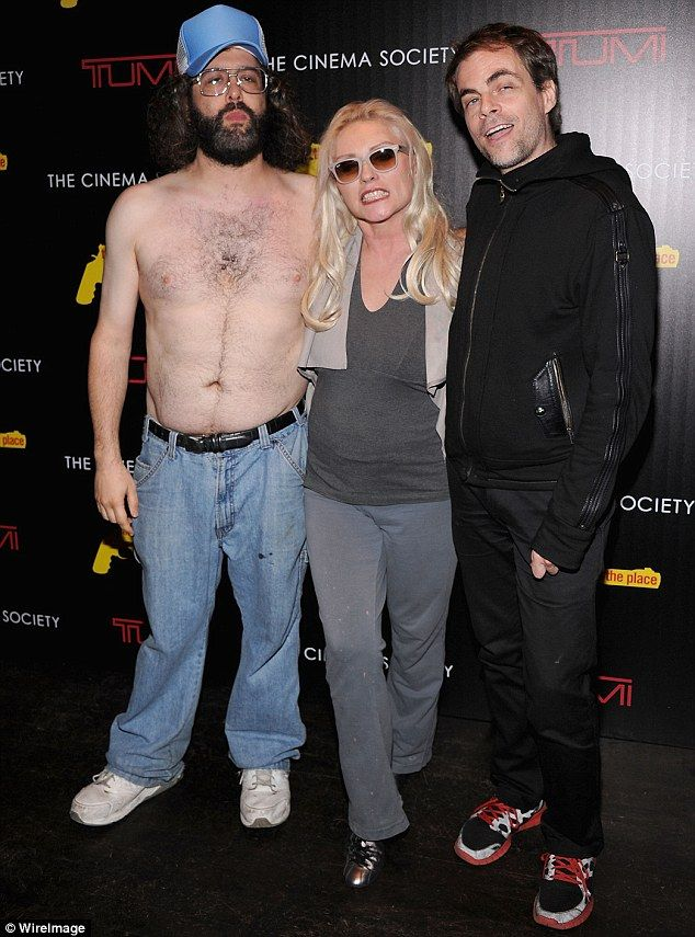 Blondie star Debbie Harry was flanked by a semi-naked Judah Friedlander and Rob Roth