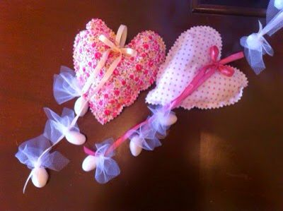 Composed vintage fabric hearts #fabricheart #christening #favors #marriage #mpomponieres #handmadeheart