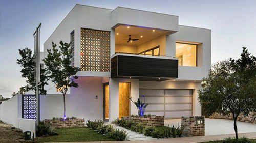 Desain rumah minimalis 2 lantai dengan aksen roster « MRD