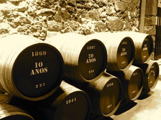 Sandeman's Porto barrels.... magic is happening!