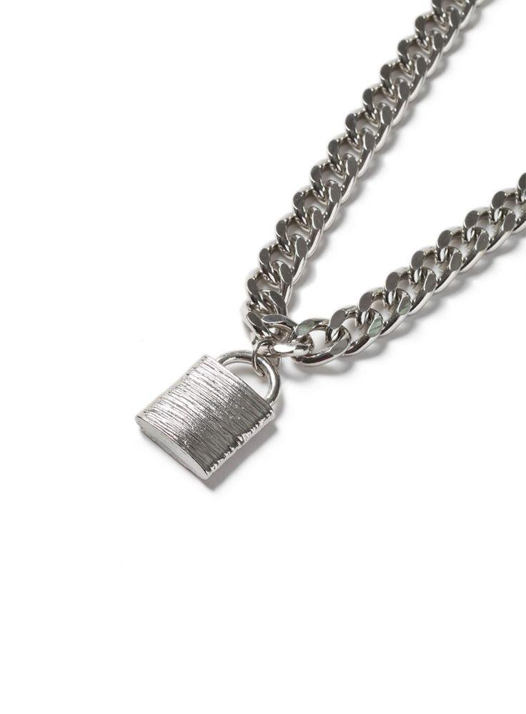 AAA Silver Look Padlock Necklace*