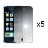 EMPIRE 5-Pack Premium Reusable LCD Mirror Screen Protector with Lint Cleaning Cloth for Apple iPhone 3G 8GB 16GB / 3G S