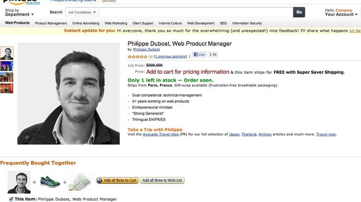 Fake Amazon Page Is Best Online Resume Ever Online resume - web product manager sample resume