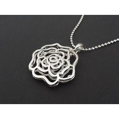 Silver-tone Rose Pendant Necklace for R85.00