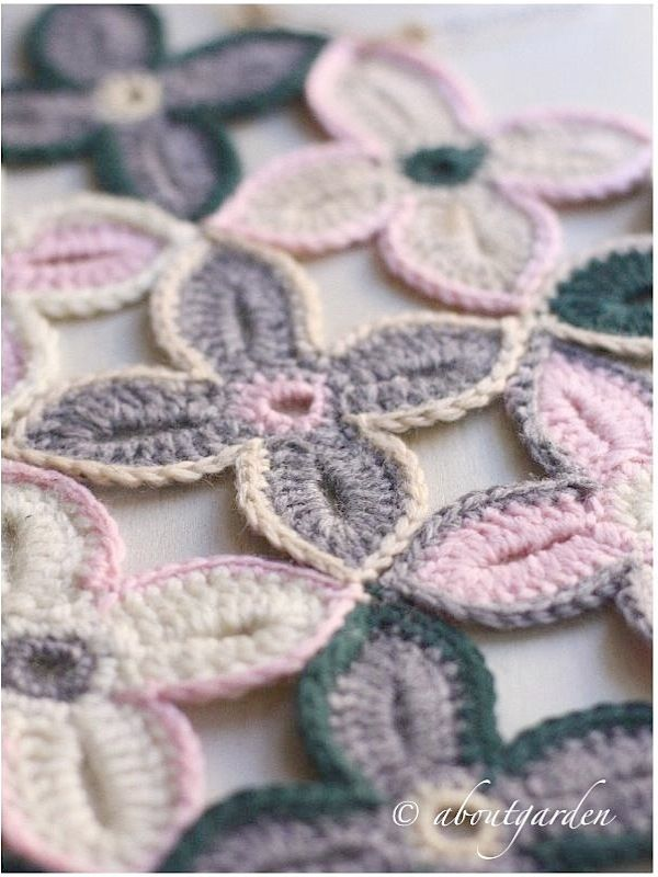 crochet Flower with pictorial - a lot color mixing possible