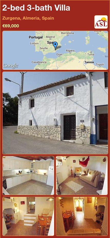 2-bed 3-bath Villa in Zurgena, Almeria, Spain ►€69,000 #PropertyForSaleInSpain