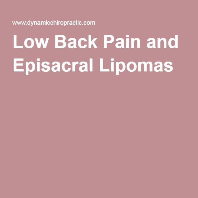 Low Back Pain and Episacral Lipomas
