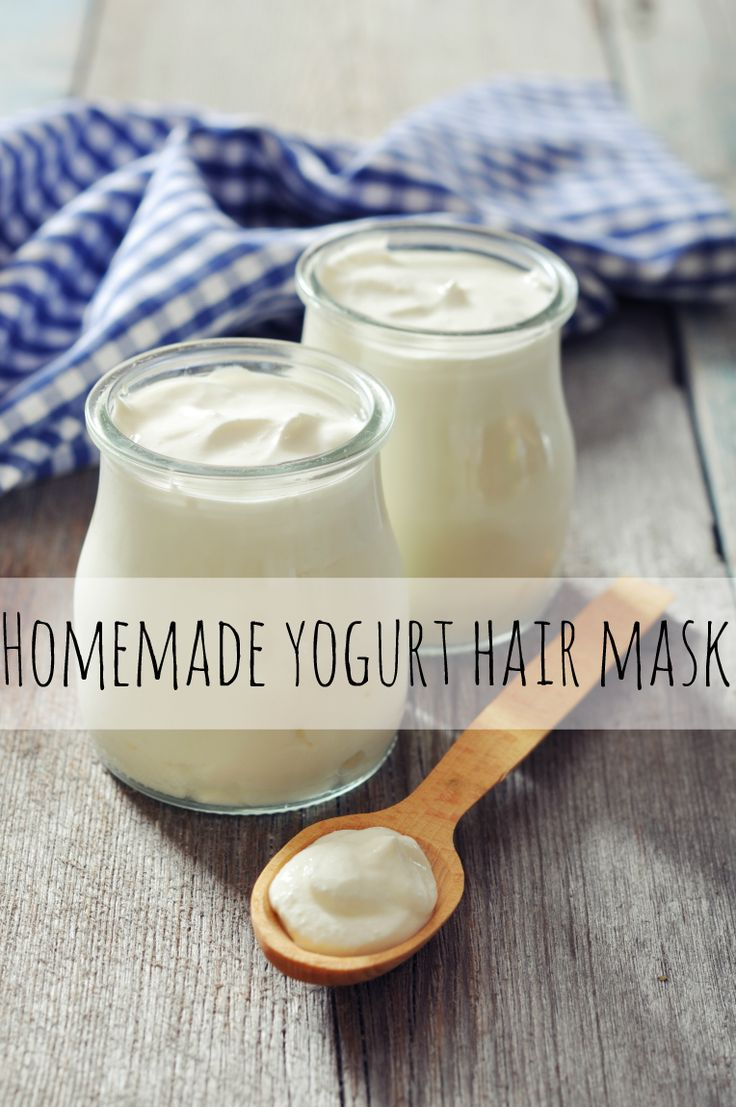 Homemade Yogurt Hair Mask - if you're looking for an inexpensive way to get smooth and silky strands, try whipping up this homemade yogurt hair mask recipe. The lactic acid in the yogurt will help moisturize your locks!