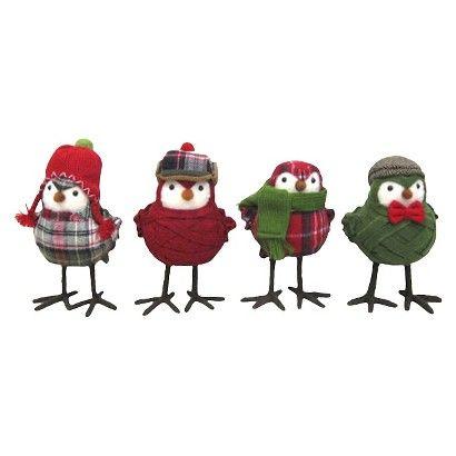 Bundled Up Holiday Decor Birds - Assorted Styles