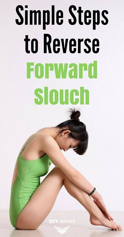 Dangerous Curves: Simple Steps to Reverse the Forward Slouch. Here are some can't miss tips about how to actually reverse the forward slouch and improve your posture in no time via @DIYActiveHQ #posture #stretch #backpain #officehealth