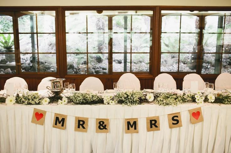 Rustic Garden Theme Wedding Bridal Table Wedding