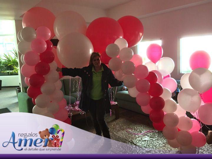 evento faty en jardn preparando montaje globos marzo