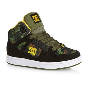 DC Trainers - DC Rebound TX Boys High-Top Trainers - Black Camo