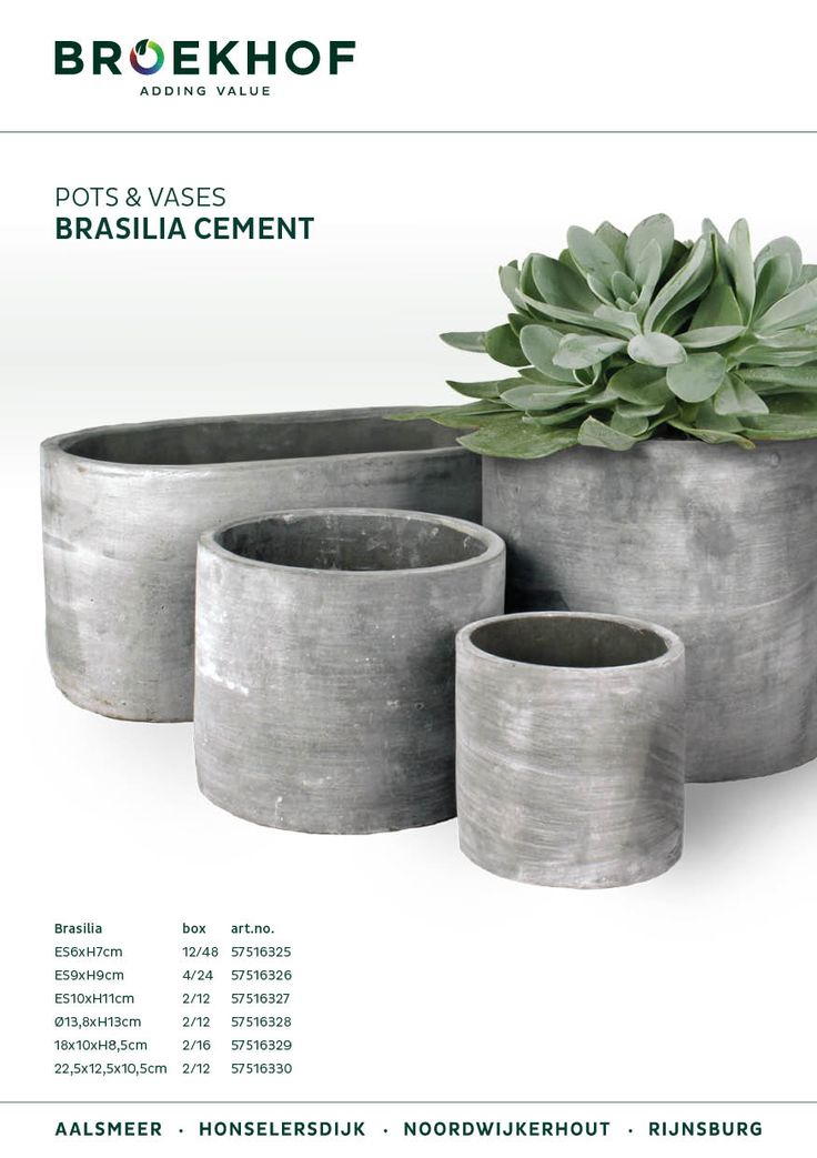 They're back! The popular Brasilia pots (formerly known as Buenos Aires).
