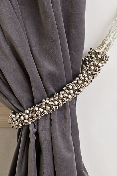 Curtains Ideas anthropologie curtain tie backs : 17 Best ideas about Grey Curtain Tiebacks on Pinterest | Grey ...