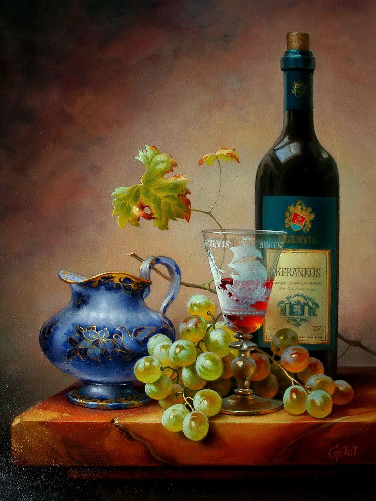 Gabor toth hungary b 1950 pencil colour pinterest for Wine bottle artwork