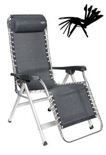 De relaxstoel van Crespo zorgt ervoor dat je helemaal tot rust komt. De bekleding is zacht en waterbestendig. Het frame is van aluminium en dus lekker licht. >> http://www.kampeerwereld.nl/crespo-al-232/