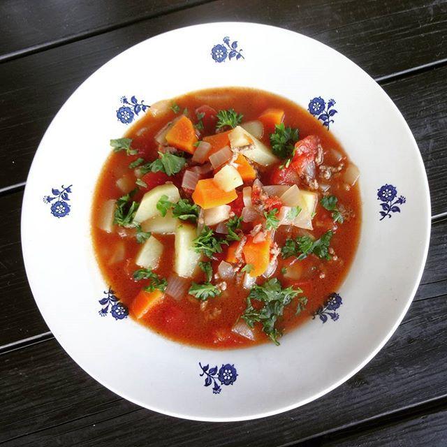 Edel's Mat & Vin : Grønnsakssuppe med kjøttdeig ✿ Hyttesuppe  ♫♪