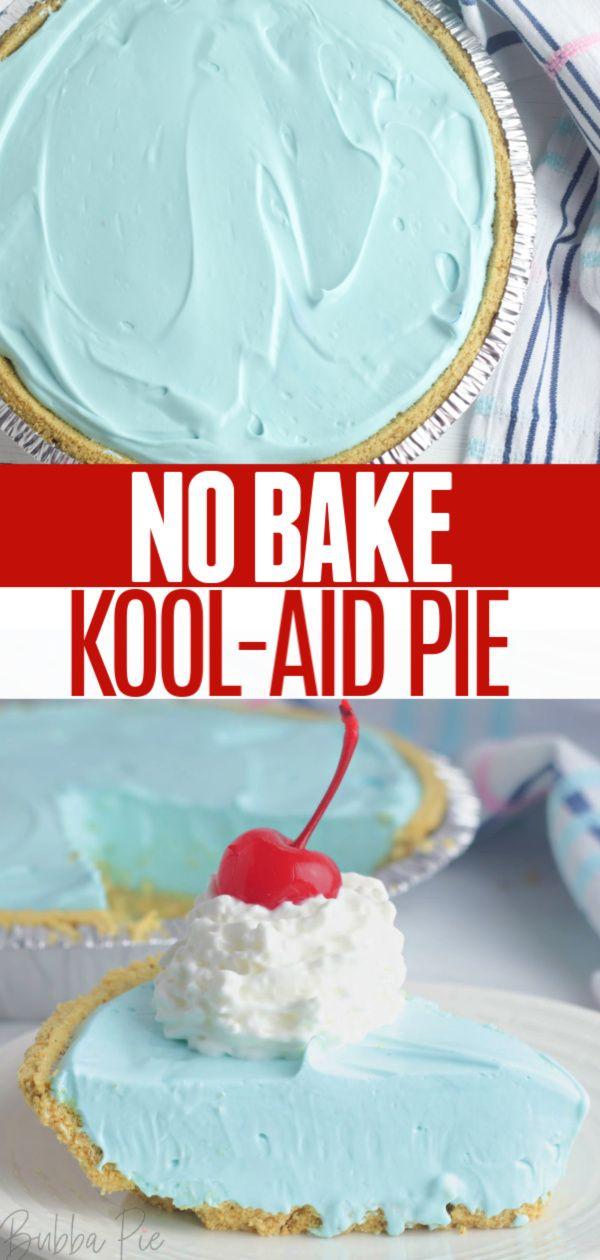 No Bake Kool Aid Pie Kool Aid Pie Recipe Graham Cracker Crust Pie Recipes Graham Cracker Recipes