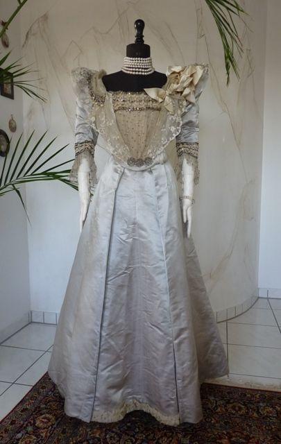 Victorian Silk Ball Gown, ca. 1895