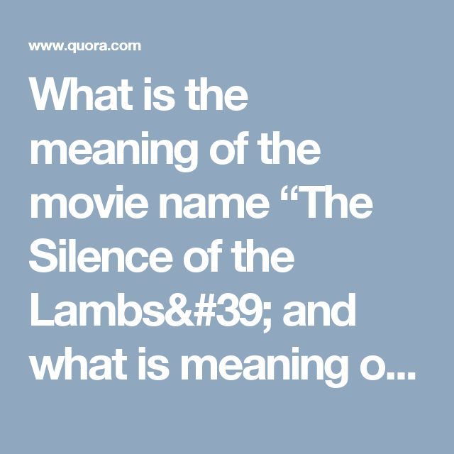 41 best Silence Of The Lambs images on Pinterest | Lambs ...
