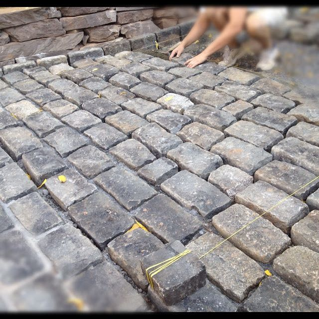 High Street Market: Driveway Update: Cobblestone Apron (Progress)