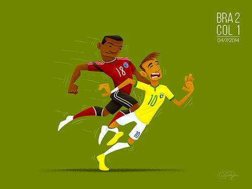 8. La lesión que le ocasionó el colombiano Camilo Zuñiga a la estrella brasileña Neymar Jr, que lo dejó fuera de competencia.