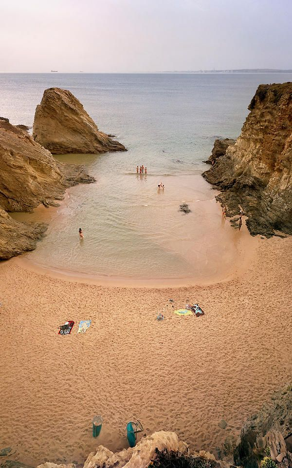 Warm colors and waters of Malhão beach (Praia Pequena) #Alentejo , Portugal